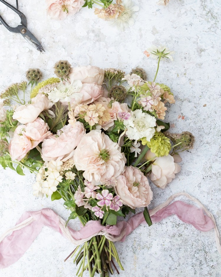 Charity Blush Roses for Country Wedding Bouquet