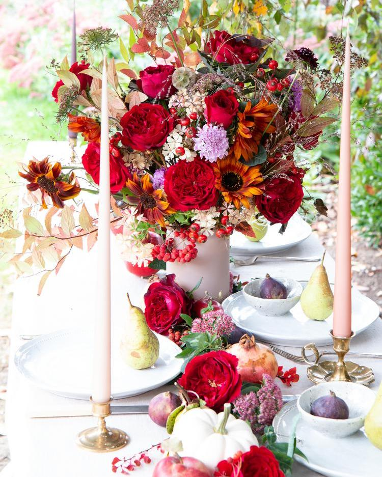 Tess Red Roses Table Banquet Outdoor Celebration