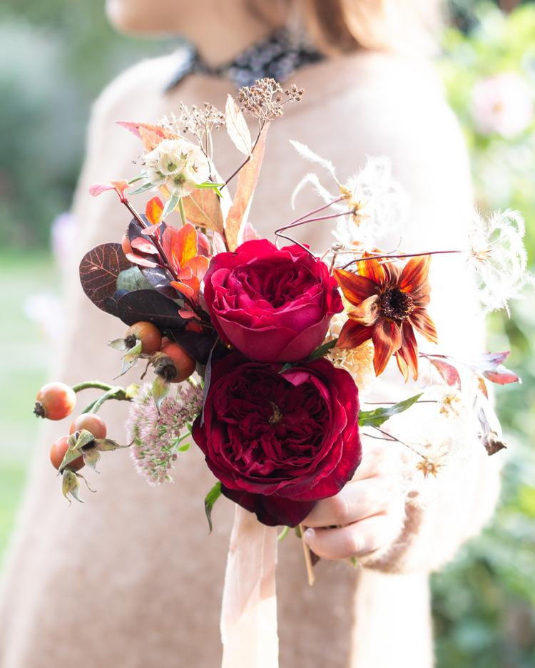 Tess Red Rose Small Posy Design Hand Held