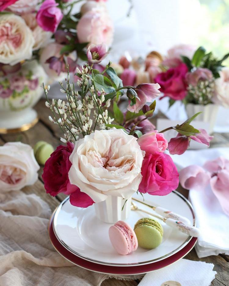 Mother's Day Tea Party Floral Decorations