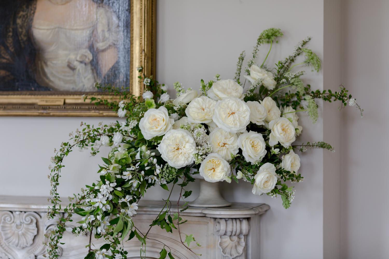 Luxury White Leonora Roses for Luxury Wedding Urn Arrangement