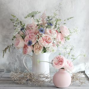 Keira Pink Roses David Austin Vase Arrangement