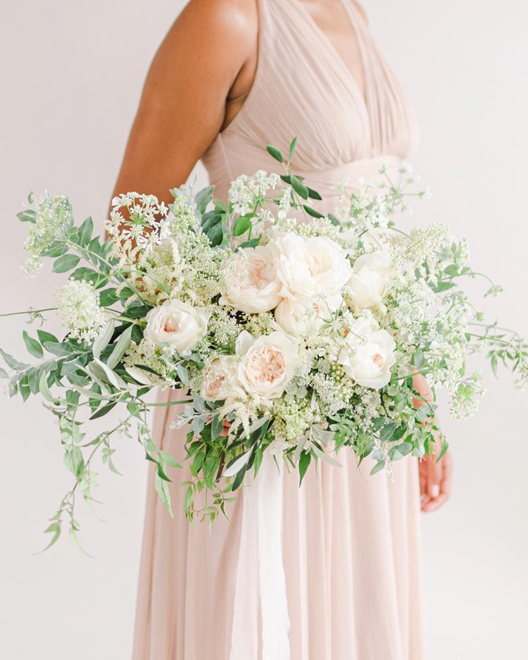 Purity Rose Wedding Bouquet Design