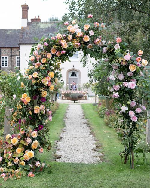 David Austin Wedding Roses Arch Design