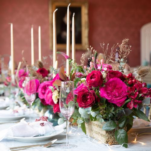 Capability Pink Roses Decoraciones de mesa para Navidad