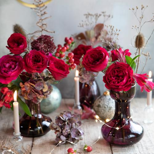 Tess Red Roses Christmas Decorations