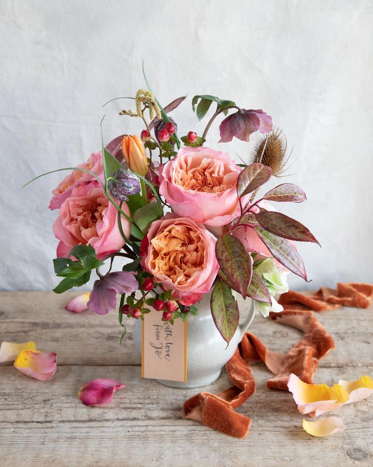 Edith Rose Vase Arrangement
