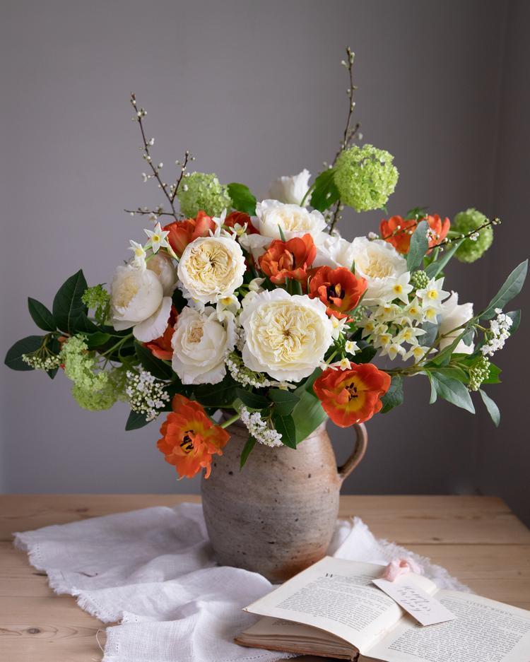 Patience Cream Roses Gift Vase Arrangement