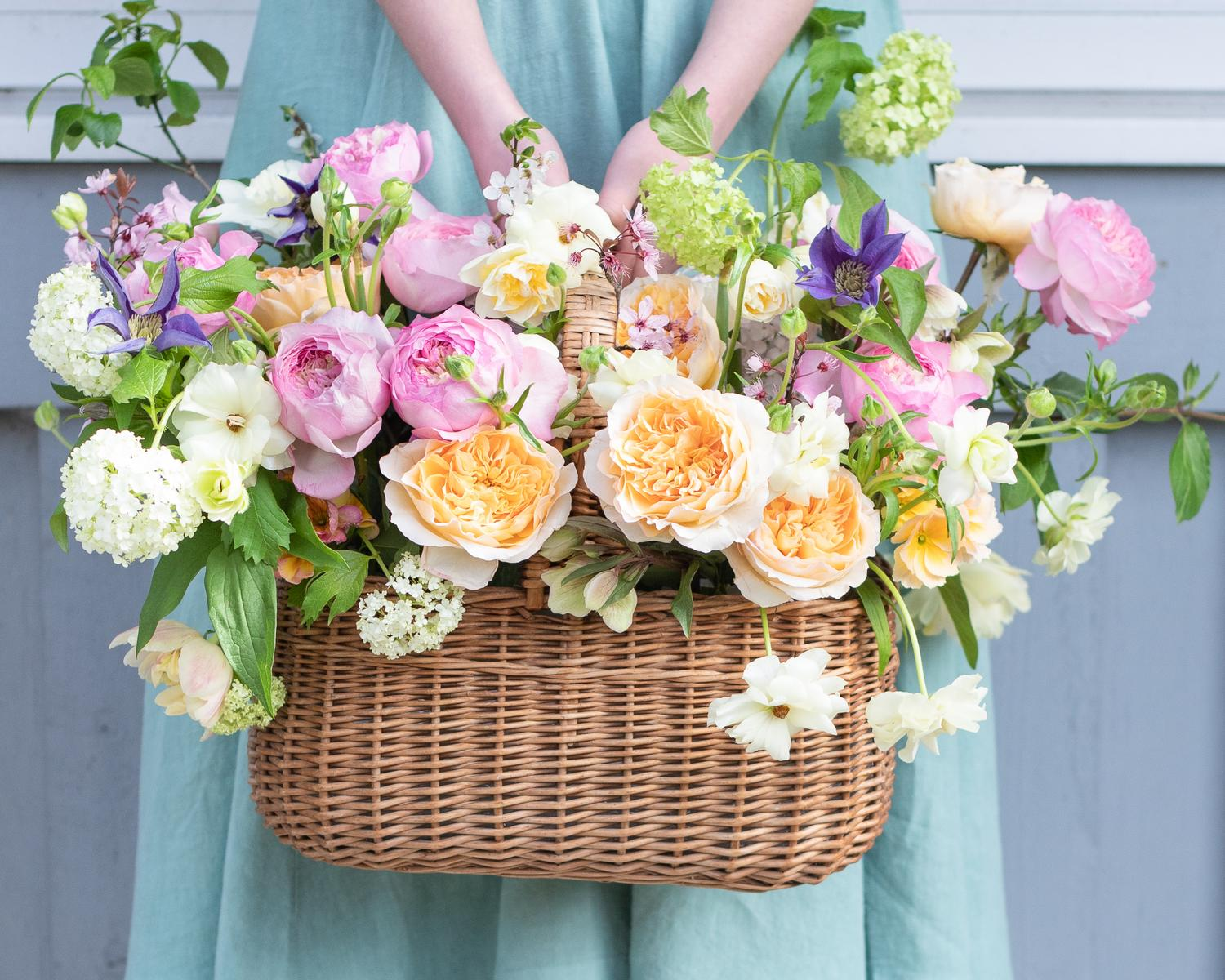 Spring floral styling with David Austin Roses