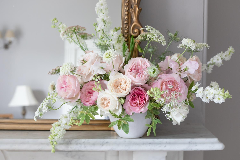 David Austin Vase Arrangement for the Home