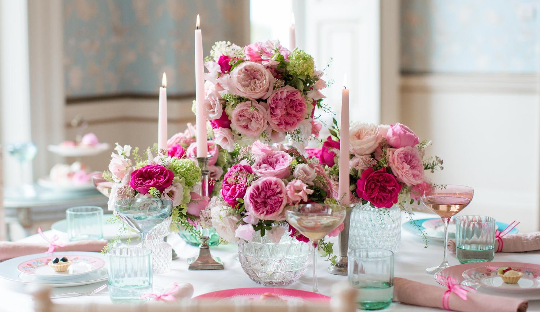 Bridal Shower Florals Pink Roses