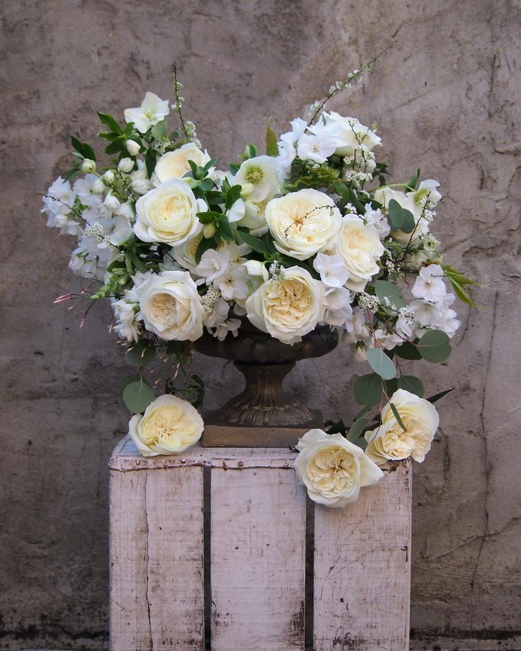 White Roses Wedding Urn Design