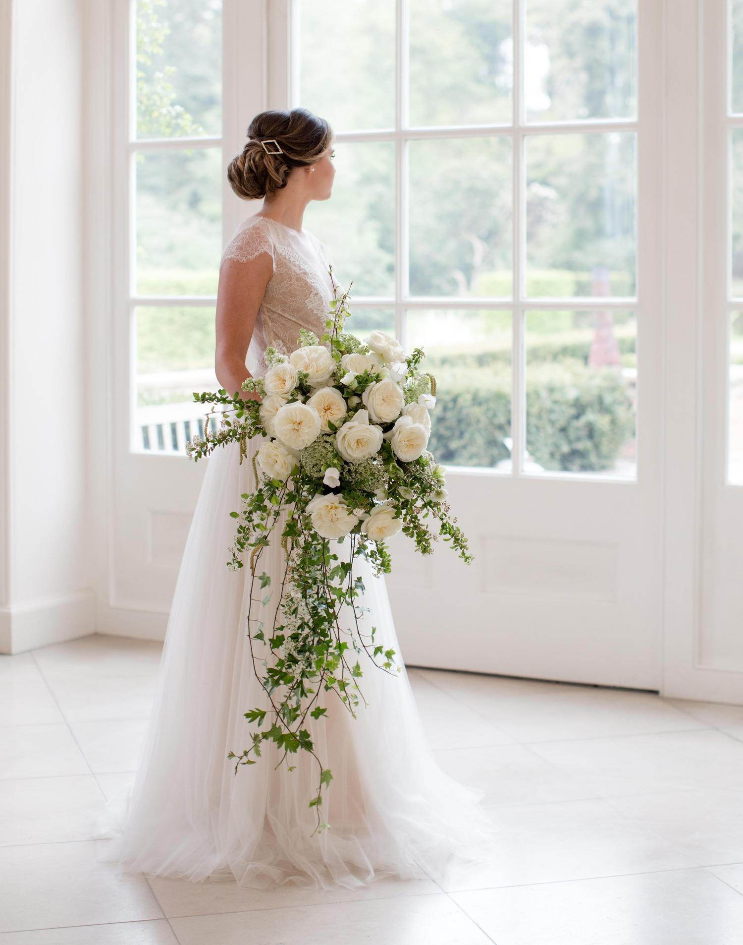 White Roses Wedding Bouquet Designs