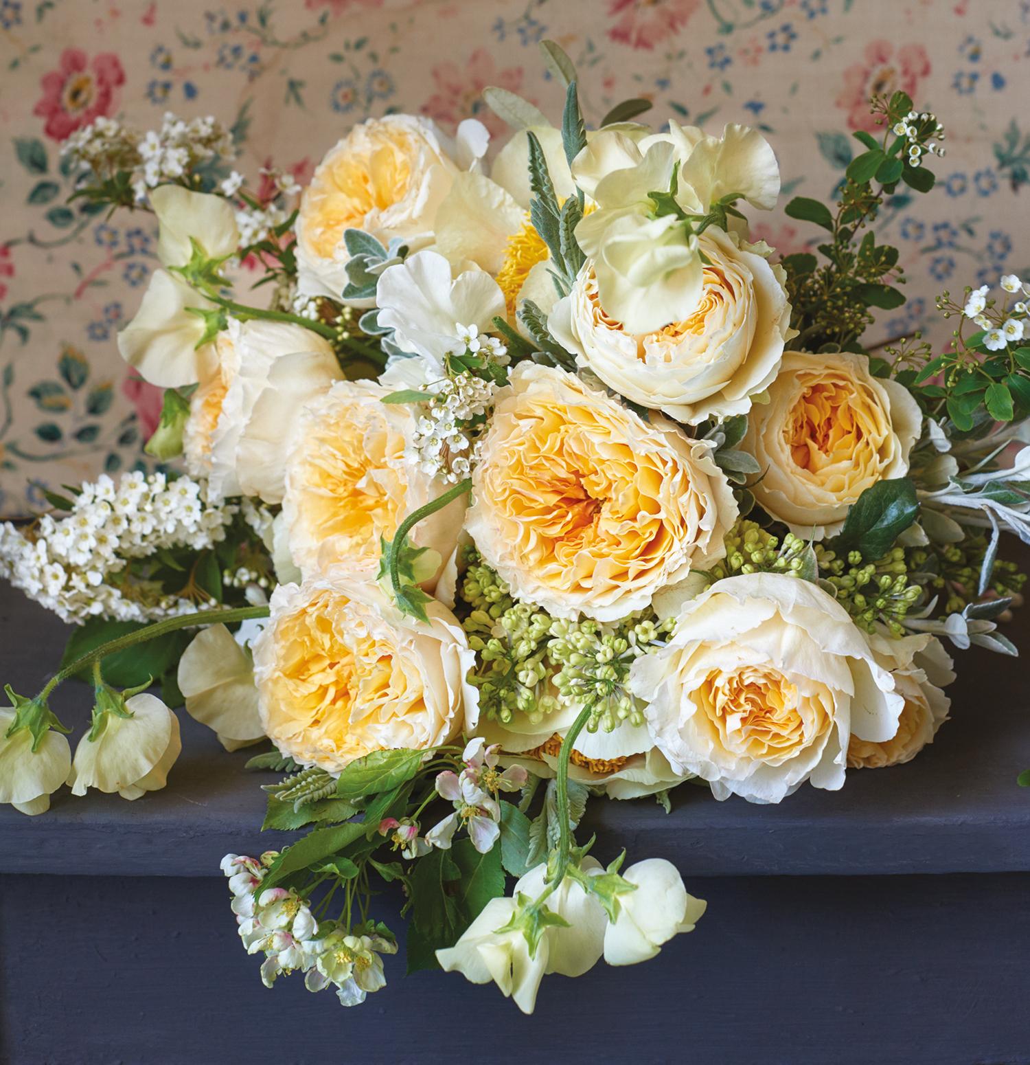 Beatrice rose wedding bouquet design
