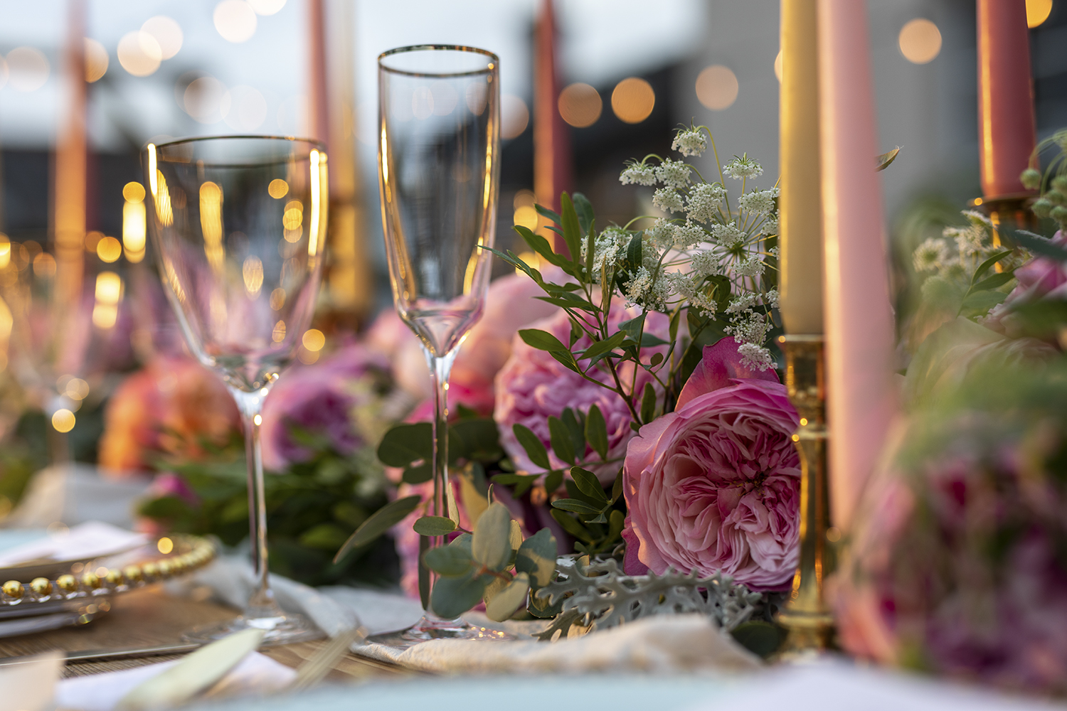 Constance roses banquet table decorations wedding