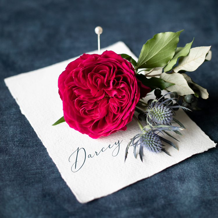 Darcey Red Rose Button Hole Design for Groom