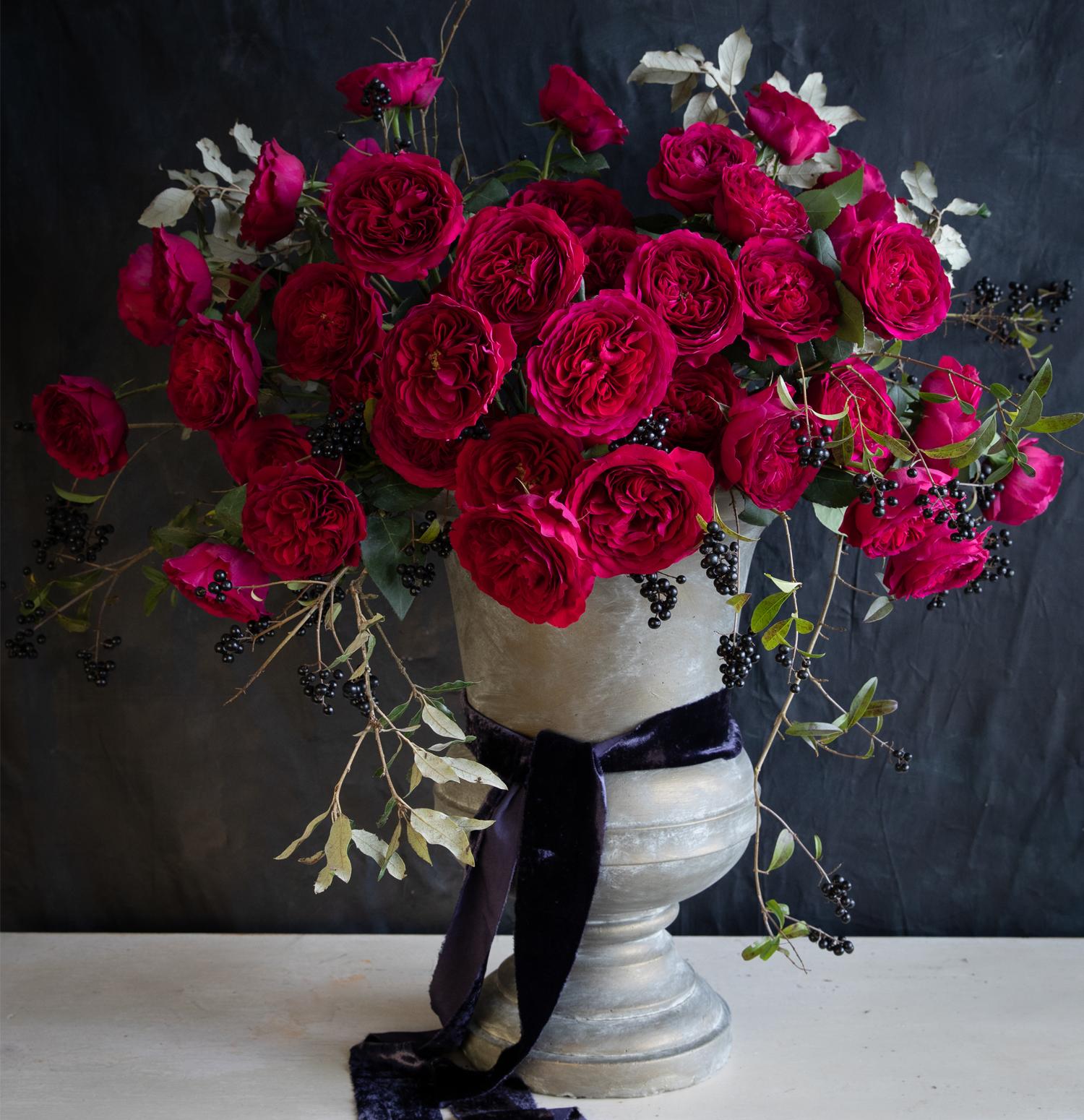 Darcey Red Roses Wedding Urn Design