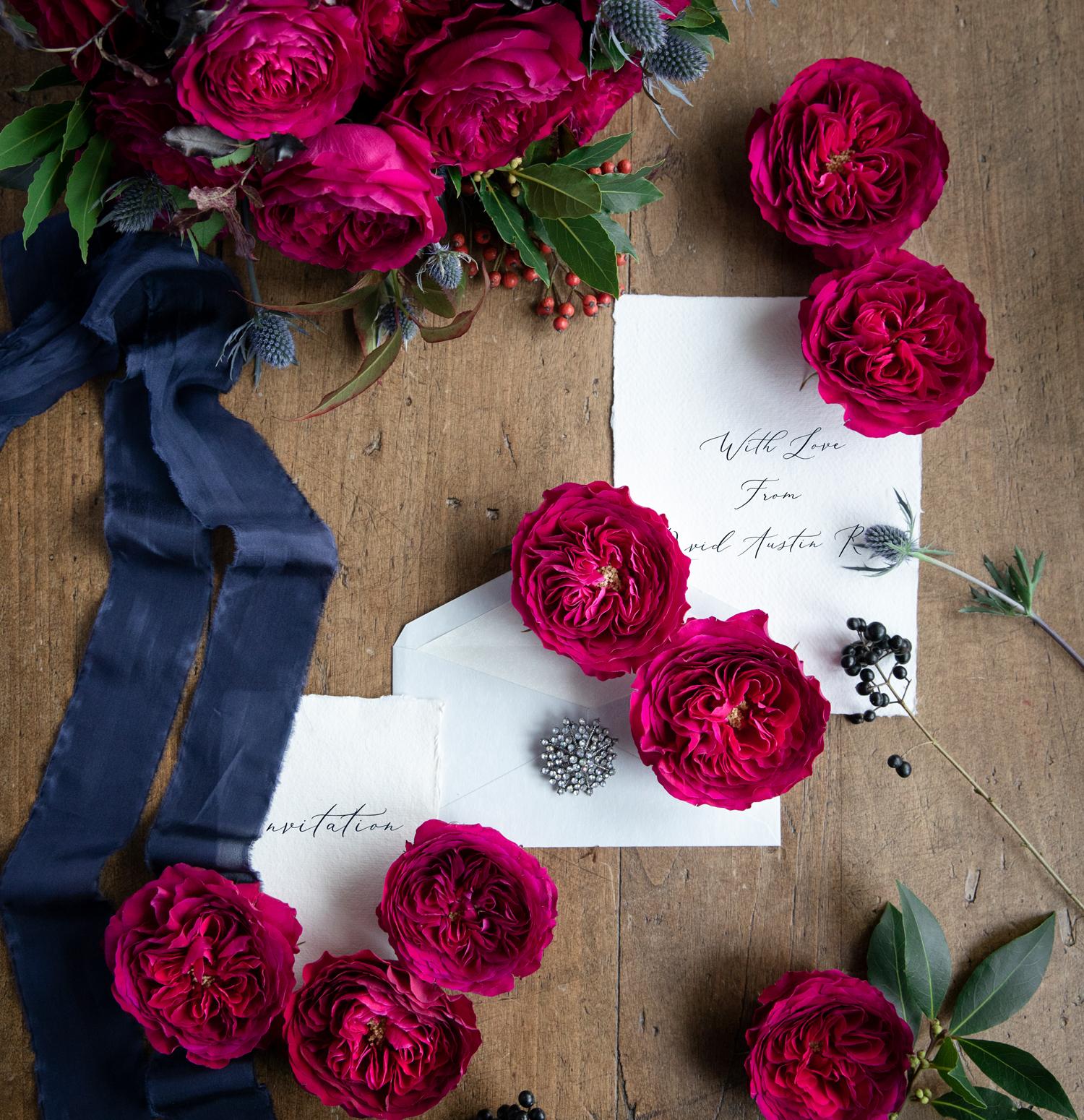Darcey Red Roses Wedding Invitation Design