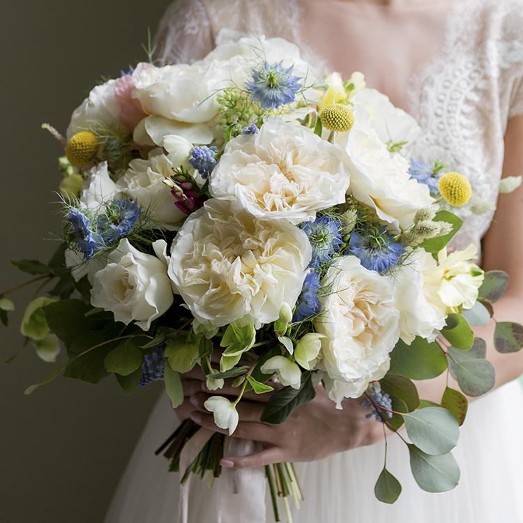Eugenie Rose David Austin Bridal Bouquet