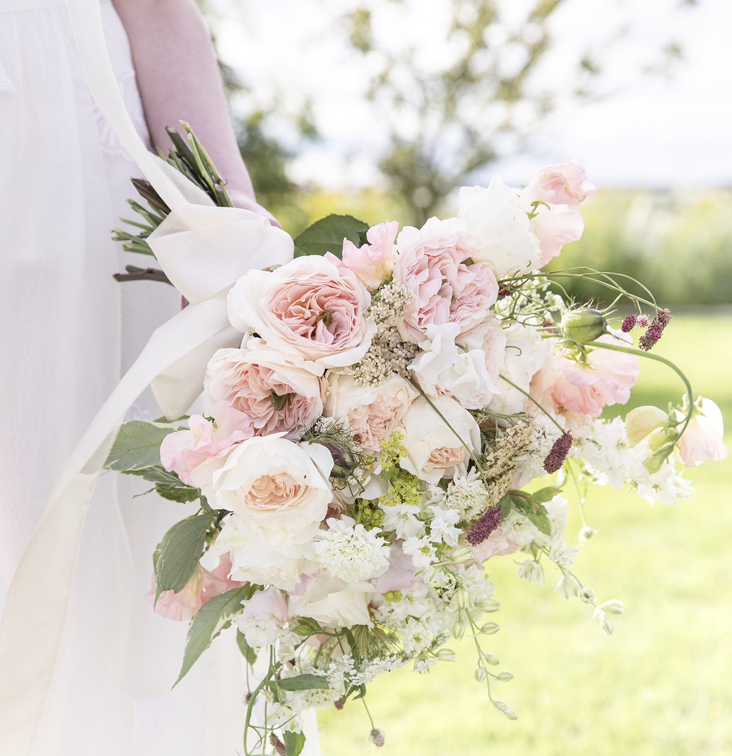 Charity roses wedding bouquet summer