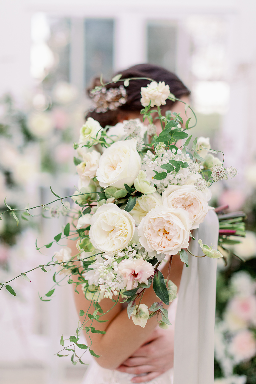 Modern David Austin Rose Bridal Bouquet