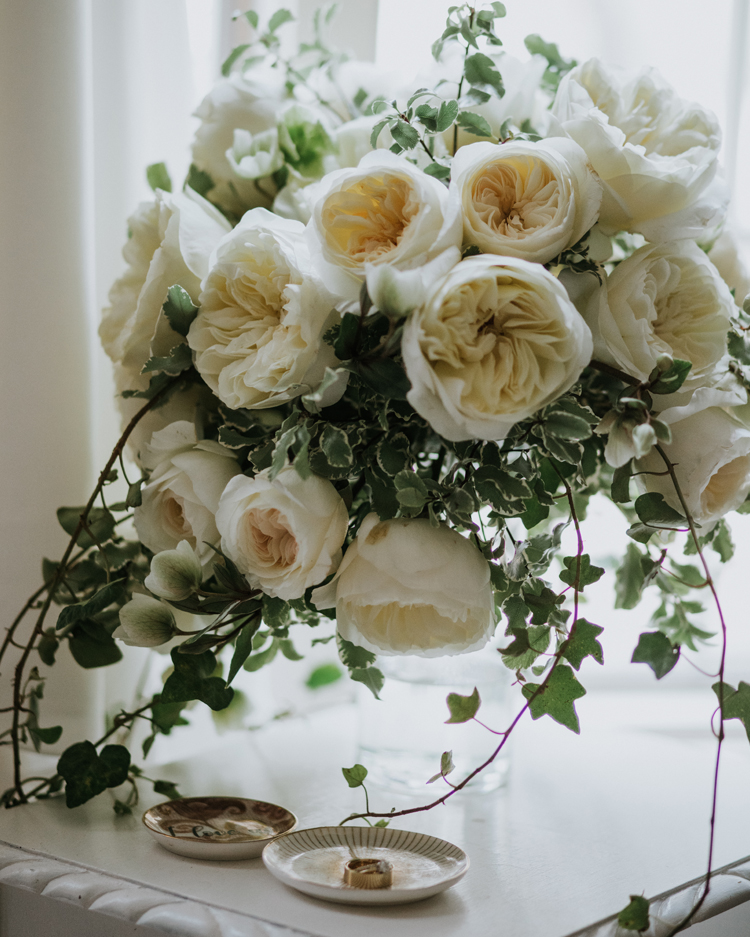 Leonora Wedding Bouquet with Engagement Ring