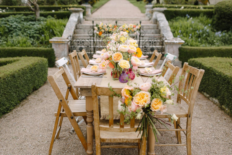 Outdoor Wedding Venue Table Decorations