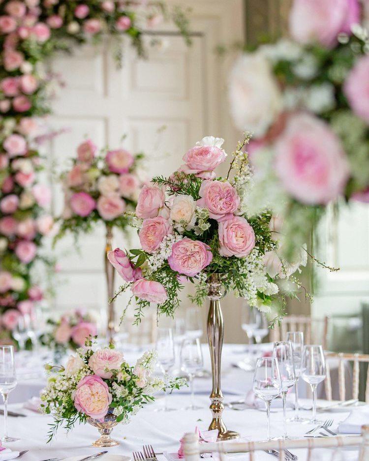 Pink Themed Wedding Florals David Austin