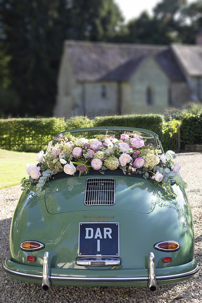Wedding Car with 25 David Austin Roses