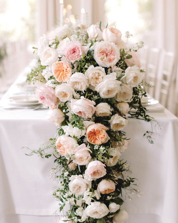 Juliet and Purity Floral Table Design