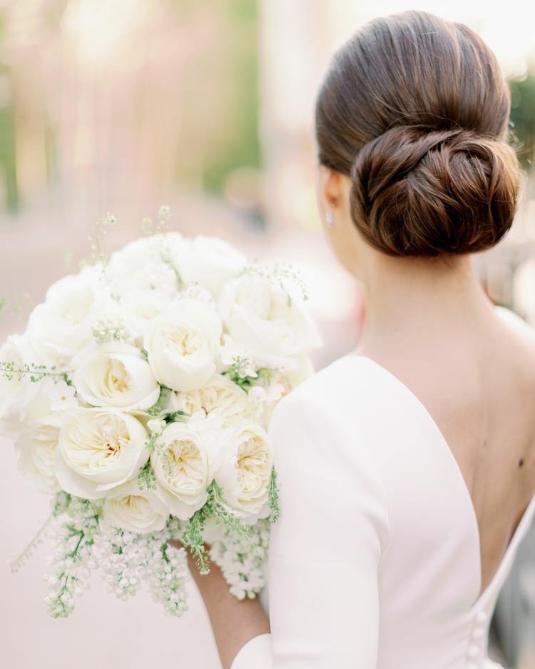 Bridal Bouquet with Ivory David Austin Wedding Rose Leonora