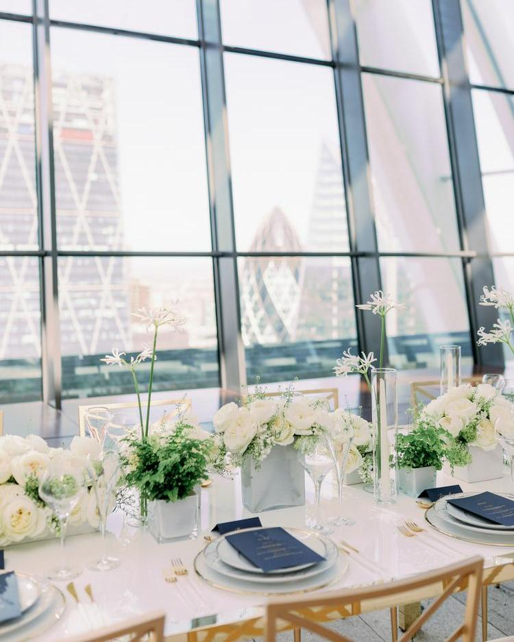 Wedding Table Florals with David Austin