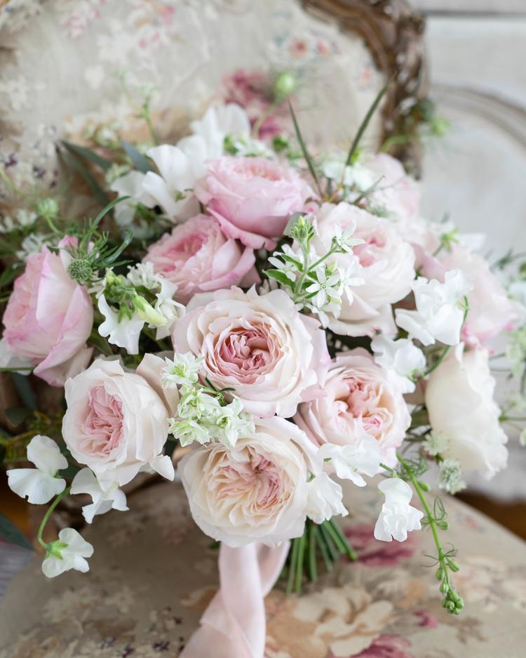 Keira Blush Wedding Bouquet David Austin Cut Roses