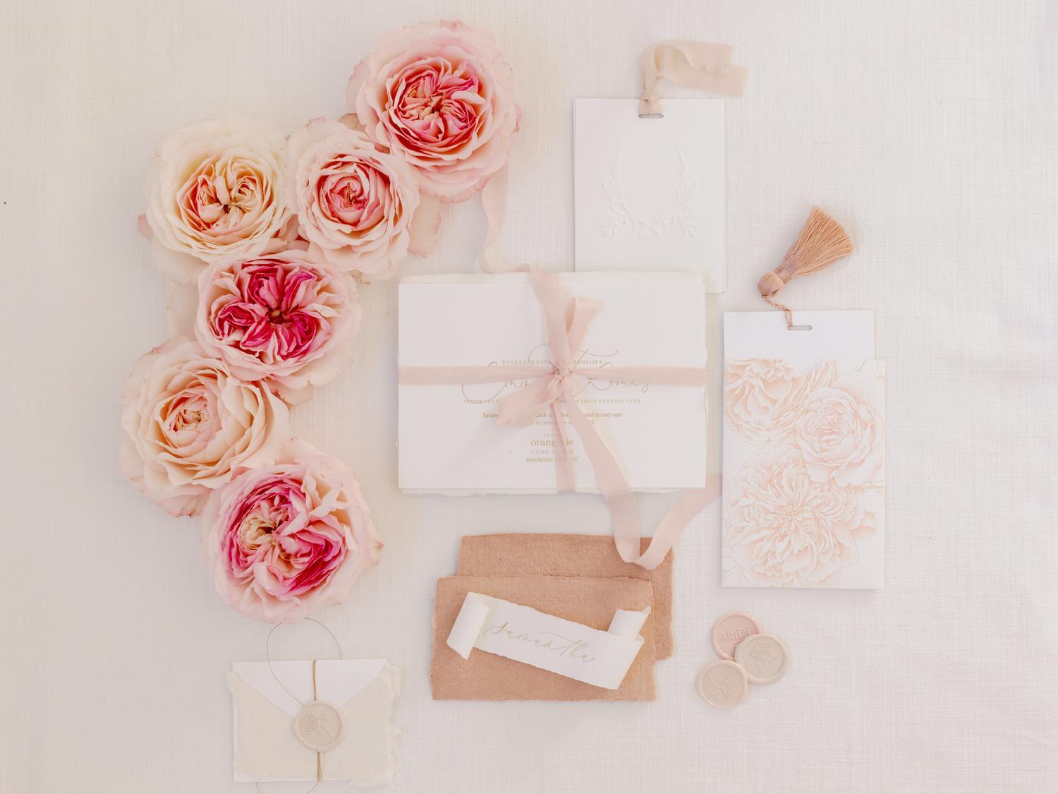 Keira Wedding Stationery David Austin Cutroses