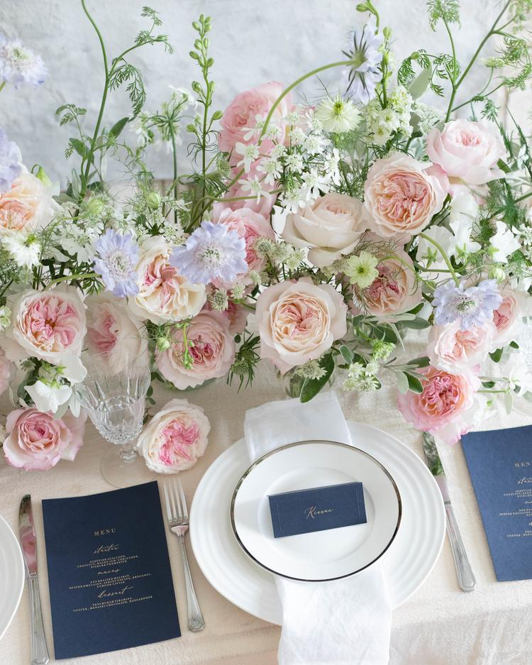 Keira Wedding Table Runner David Austin Cut Roses