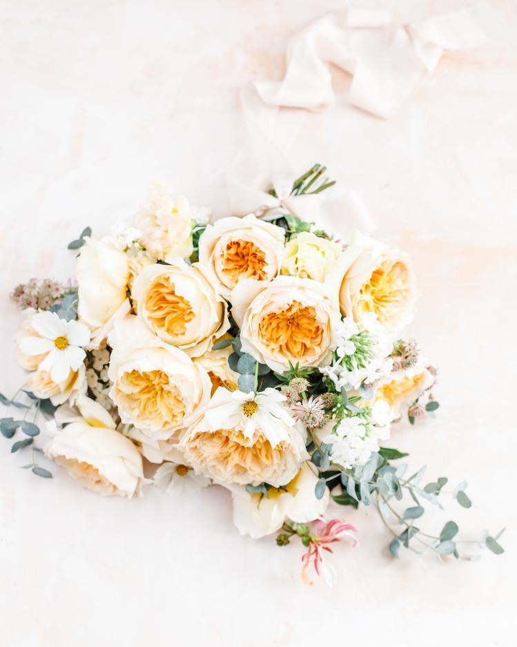 Gelb-Orange Rose David Austin Cut Roses