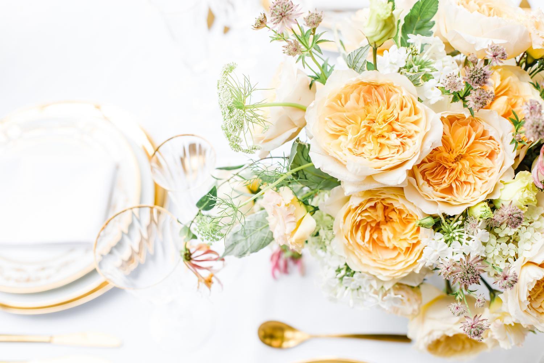 Rose Gelb Orange Rose Tischurne David Austin Cut Roses